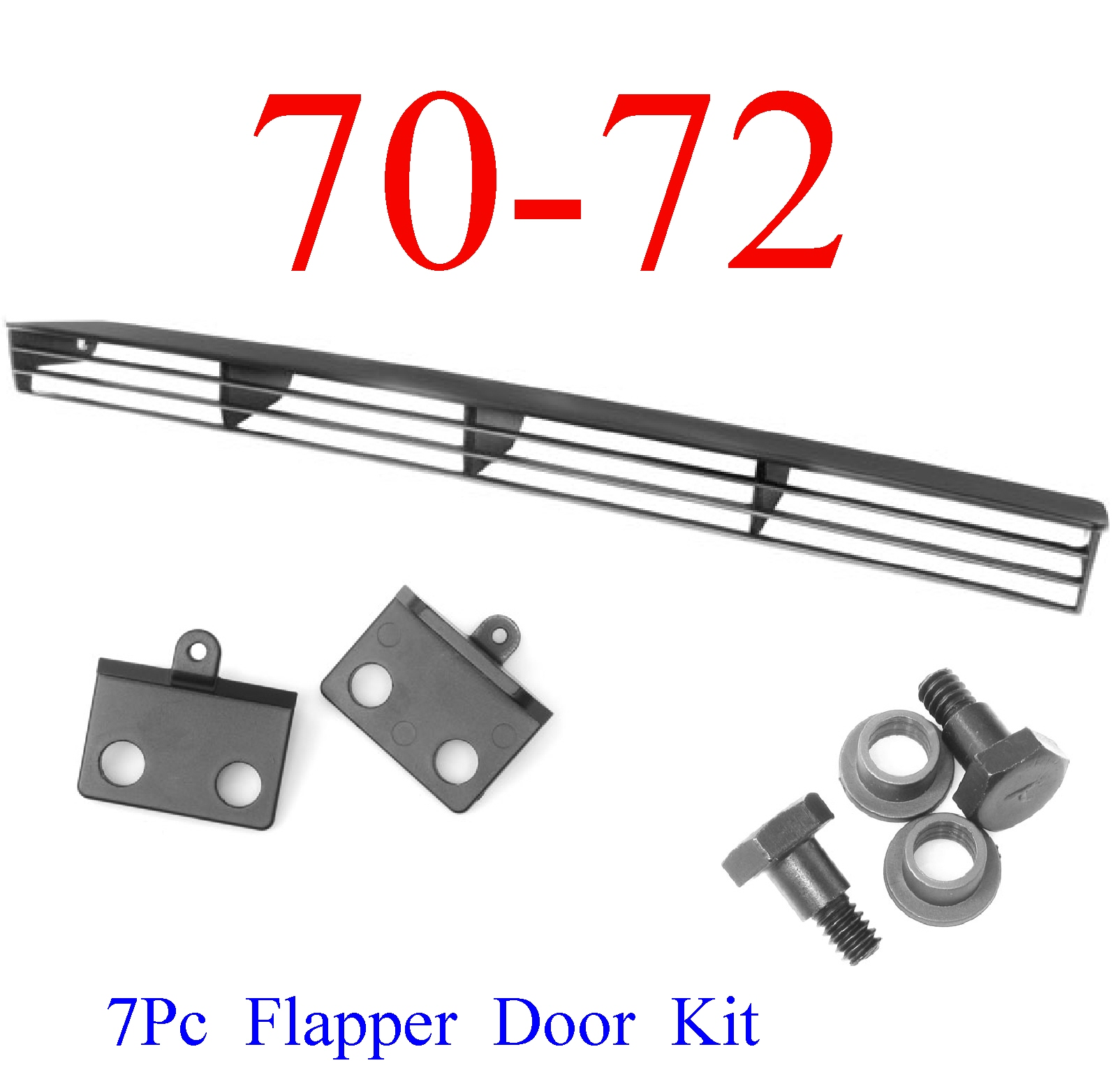 70-72 Chevy Chevelle SS 7Pc Flapper Door & Install Kit